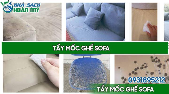 Cách tẩy mốc ghế sofa da, vải
