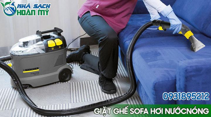 Giặt ghế sofa bằng máy phun hút hơi nước nóng áp lực cao