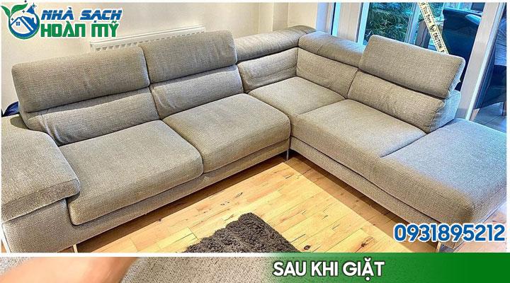Hình ảnh bộ ghế sofa sau khi giặt
