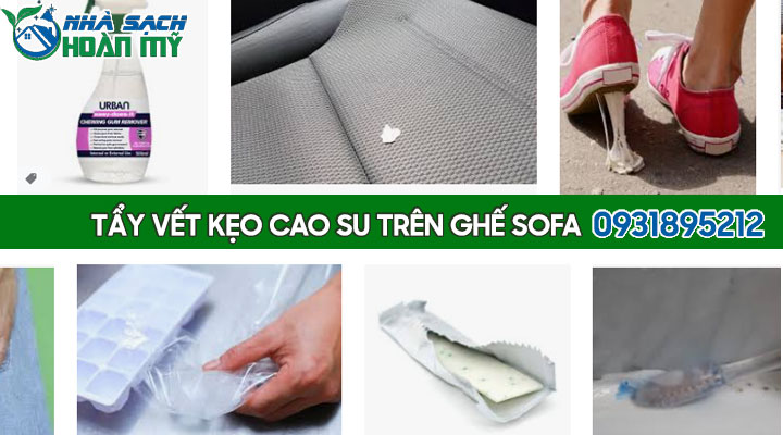 Cách tẩy bã kẹo cao su trên ghế da