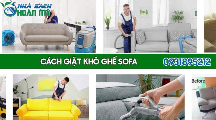Cách giặt khô ghế sofa