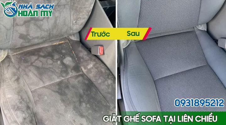 Hình ảnh trước và sau khi giặt ghế sofa