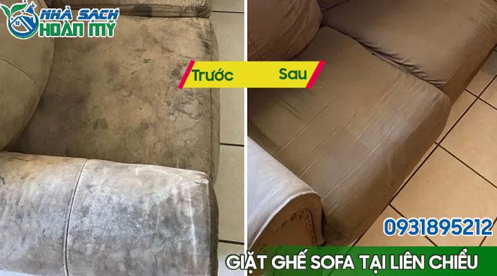 kết quả làm sạch ghế sofa tại quận Liên Chiểu - Đà Nẵng