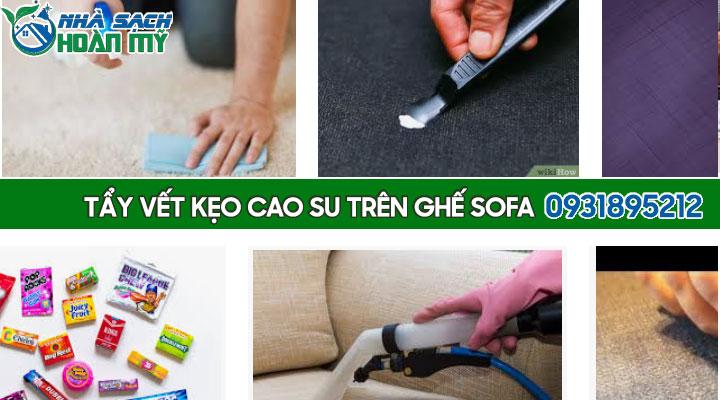 Cách tẩy vết kẹo cao su trên ghế sofa
