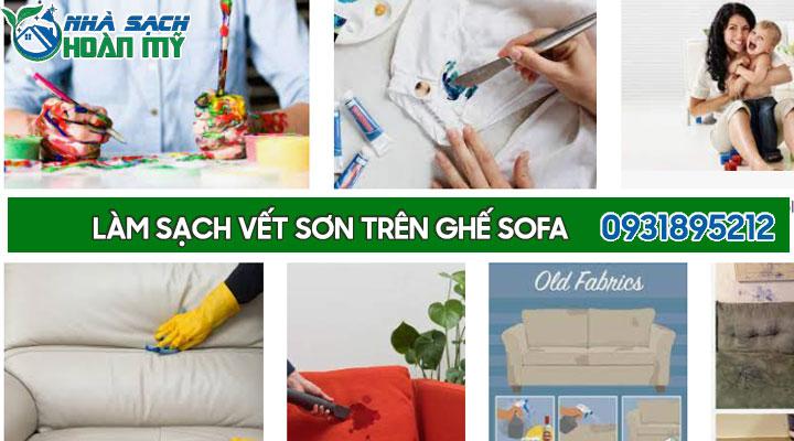 Cách tẩy vết sơn trên ghế sofa